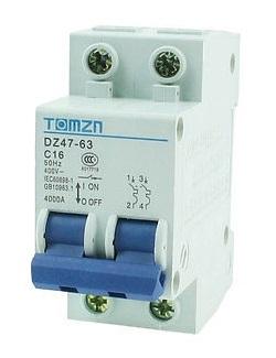 Breaker แบบ MCB AC 16A 400V 2P (TMZ)