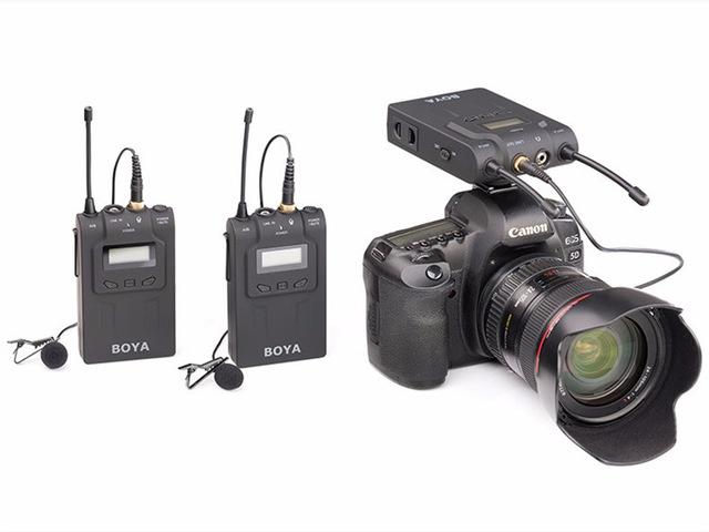 BY-WM8 Boya Wireless UHF Dual-Channel Microphone For DSLR Mirrorless Camera ไมค์โครโฟนไร้สายกล้อง DSLR