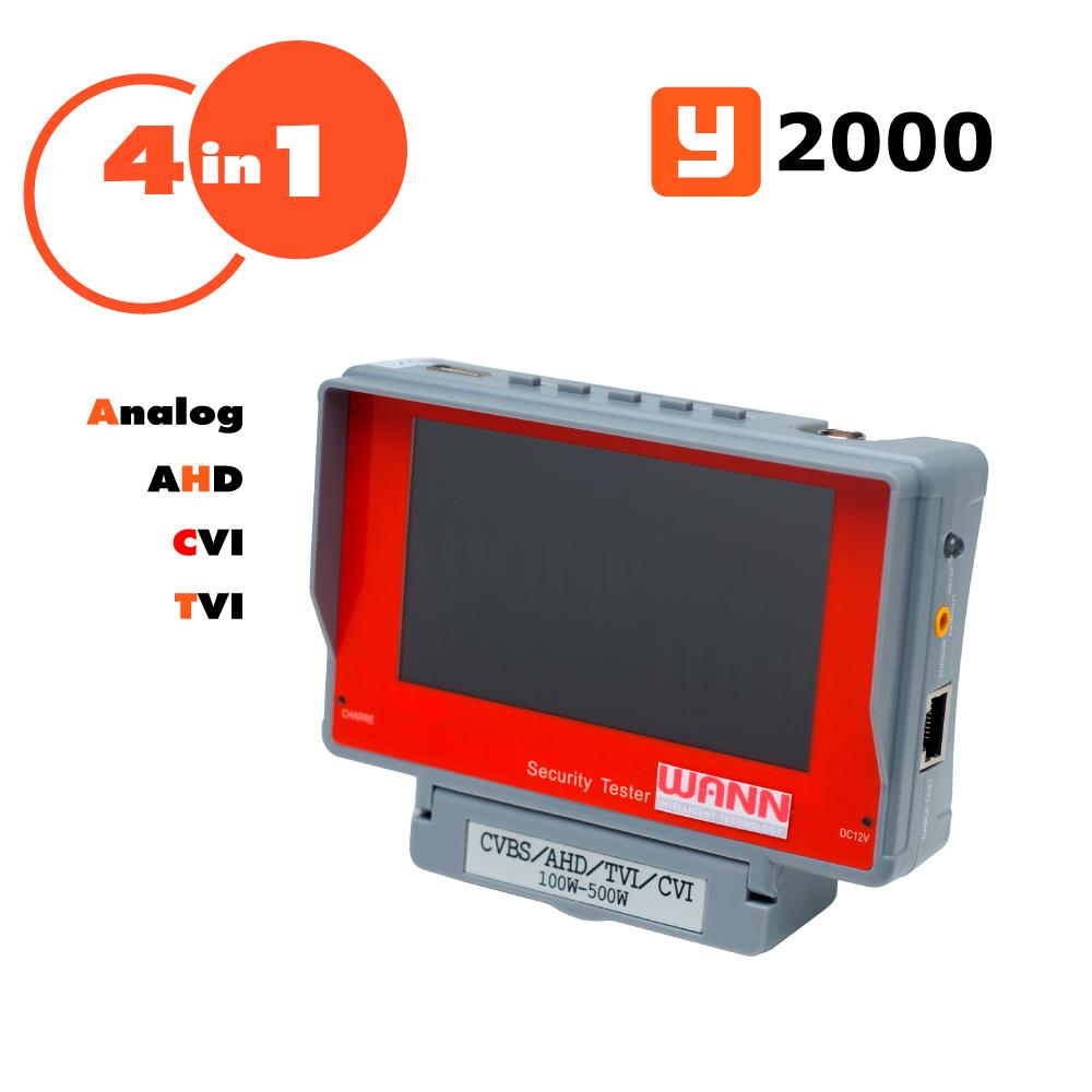 เครื่องวัดสัญญาณ ทดสอบสัญญาณ กล้องวงจรปิดระบบ Analog AHD TVI CVI Y2000 WANN