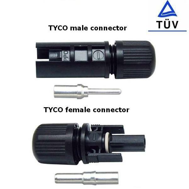 Cable & Connector (ตัวเชื่อมสายไฟ) แบบ MC4-Tyco