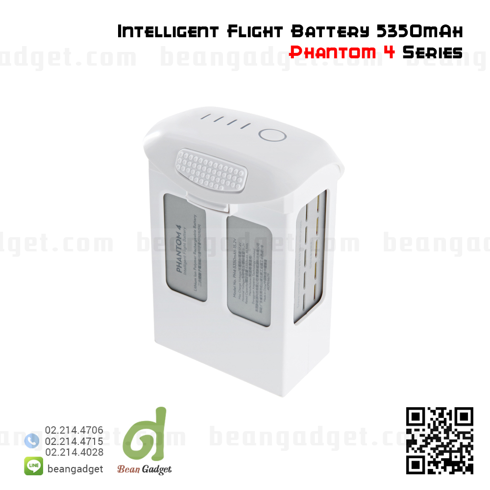 แบตเตอรี่ DJI Phantom 4 Part 54 Intelligent Flight Battery 5350mAh LiPo