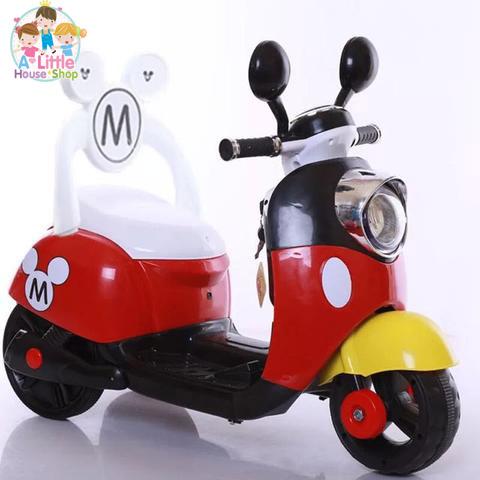 มอเตอร์ไซค์ รถแบตเตอรี่ มิกกี้เมาส์ ของเล่นเด็ก