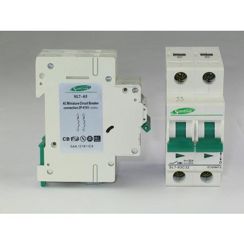Breaker แบบ MCB AC 20A 415V 2P (SNT)