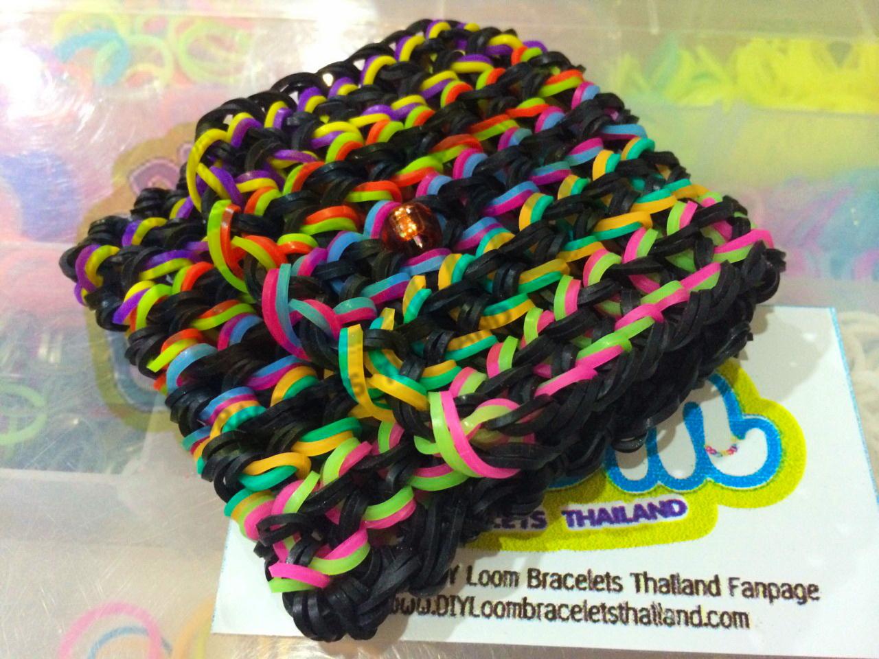 หนังยางถัก ข้อมือ แฟนซี loom band 100%ซิลิโคน ของแท้จาก DIY Loom Bracelets Thailand ทนทาน ไม่เปื่อย