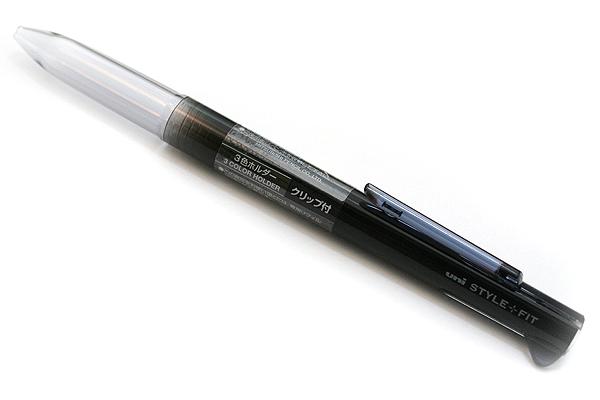 ด้ามเปล่าใส่ไส้ปากกา Uni Style Fit - 3 ไส้ มีคลิป Black