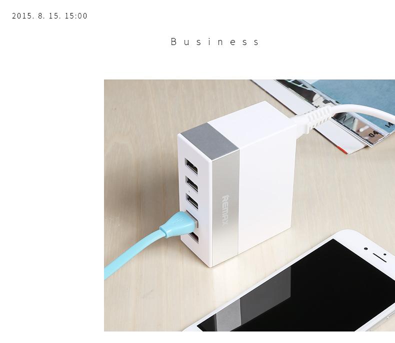 Remax USB Charger 5 USB Hub RU-U1 - White สีขาว