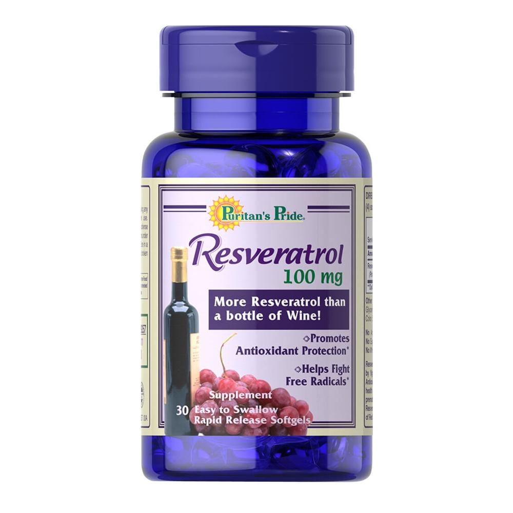 Puritan Resveratrol 100 mg 120 Softgels (USA) ช่วยดูแลผิวพรรณสดใส ฟื้นฟูสุขภาพ ชะลอความแก่ และช่วยให้มีอายุยืนยาว ดีและถูกกว่า Viva Plus