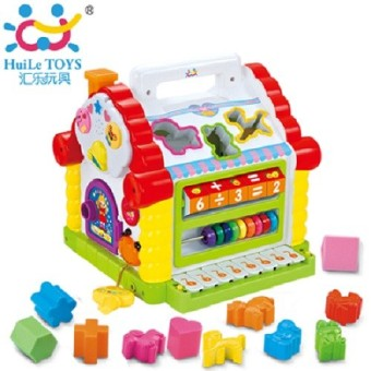 Huile Toys - Funny House บล๊อกบ้าน แสนสนุก Huile Toys 739 Funny Cottage