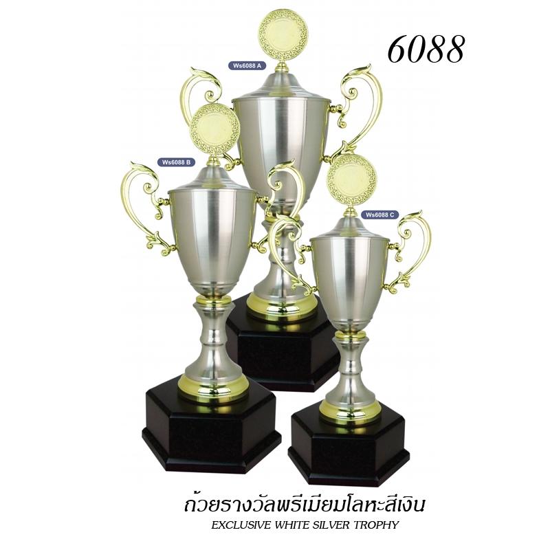 WS-6088 ถ้วยรางวัล White Silver