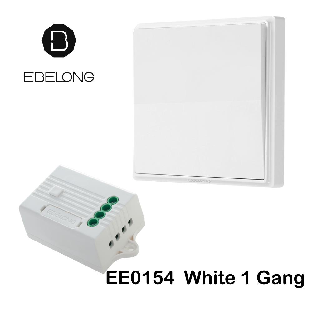 สวิทซ์ไร้สาย Ebelong สวิทซ์ไม่ต้องใช้แบตเตอรี่ กันน้ำ EE0154 ERC302 - white สีขาว
