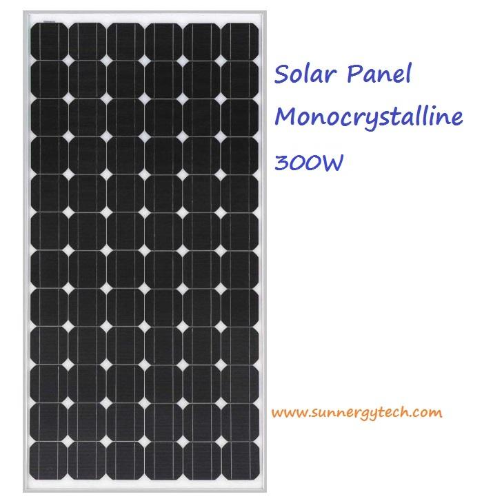 แผงโซล่าเซลล์ ชนิด Mono-Crystalline ขนาด 300W