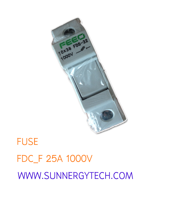 Fuse DC ขนาด 25A 1000V with Box (FEO)