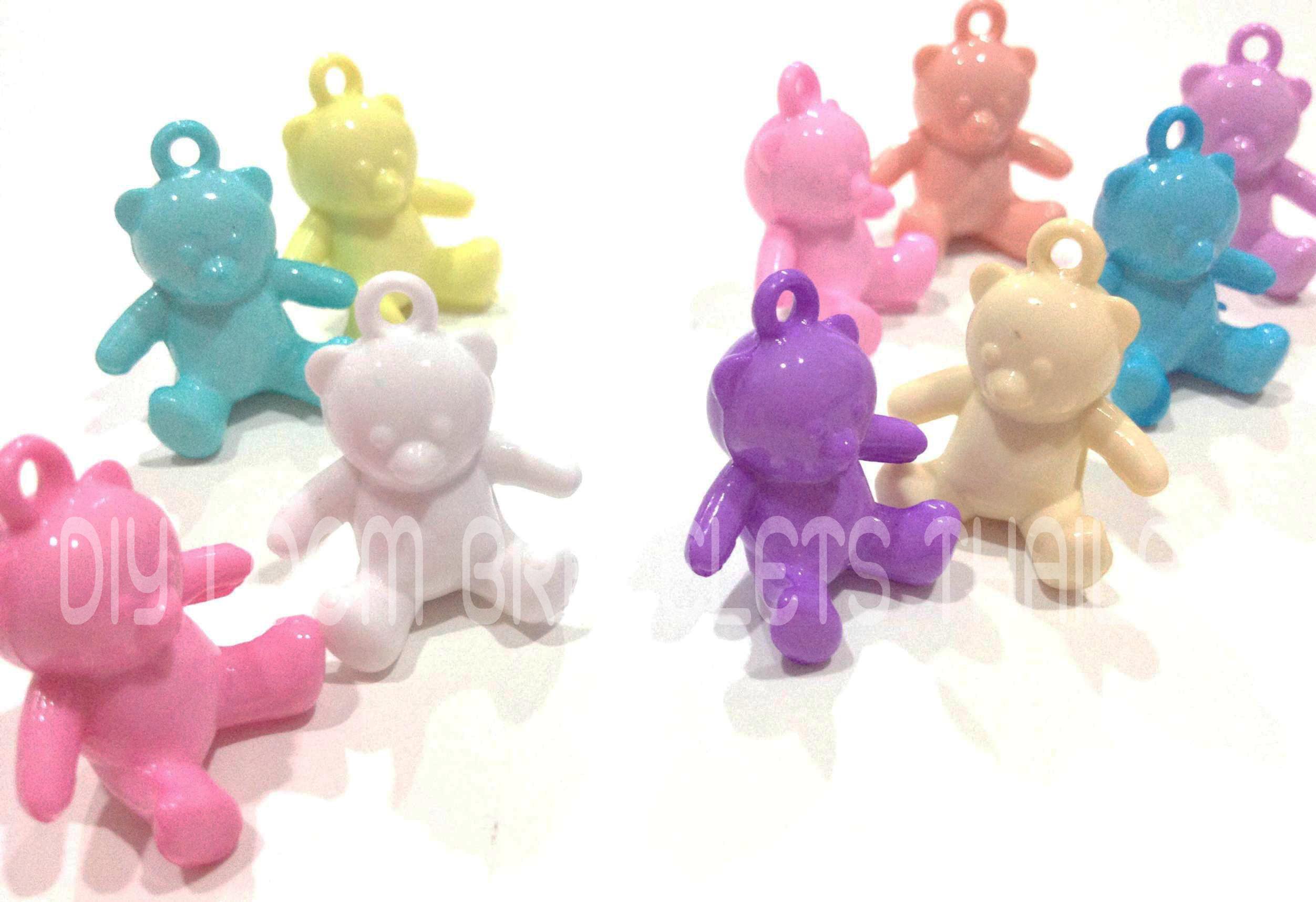 หมีนั่งพาสเทล 10 ชิ้น 10 สี