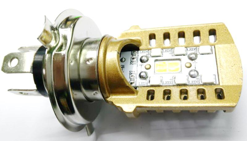 ไฟหน้า LED ขั้ว H4 COB 20W Gold Series