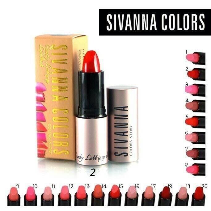 Sivanna Colors ลิปสติก Candy Lollipop Lipstick HF622 โปรโมชั่นโดนใจ 4 ท่าน