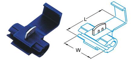 ตลับหนีบสาย 18-14 A.W.G. 0.75-2.5mm2 878101 SS 2.5 T-Lug Quick Splice Connectors KST