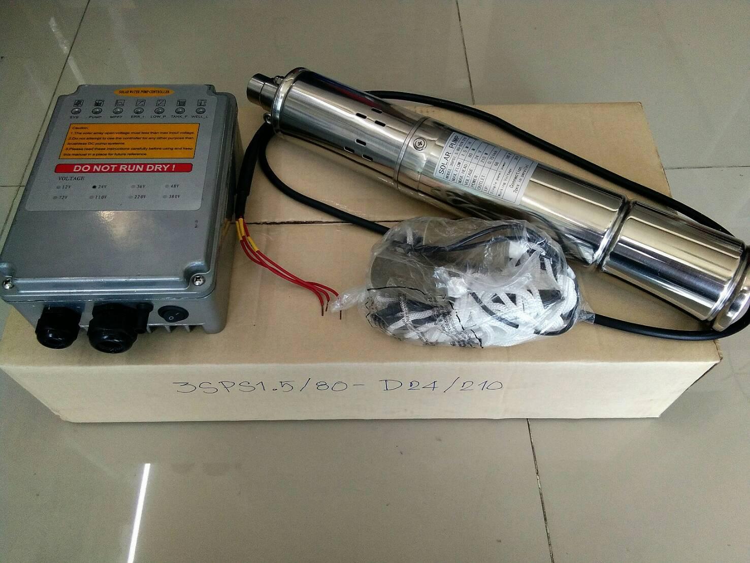 โซล่าปั๊ม (Solar Pump) ชนิด Submersible รุ่น STC-3SPS2.3/80-D48/1000