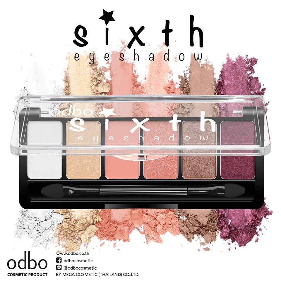odbo sixth eyeshadow OD246 โอดีบีโอ ซิกซ์ อายแชโดว์ ของแท้ ราคาถูกที่สุด