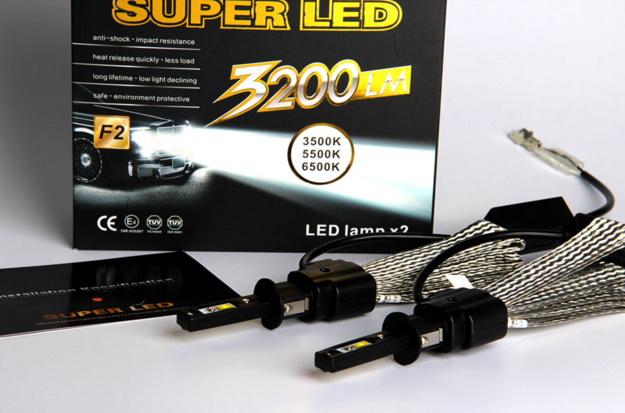 ไฟหน้า LED ขั้ว HB3(9005) Cree 2 ดวง 40W No Fan รุ่น F2