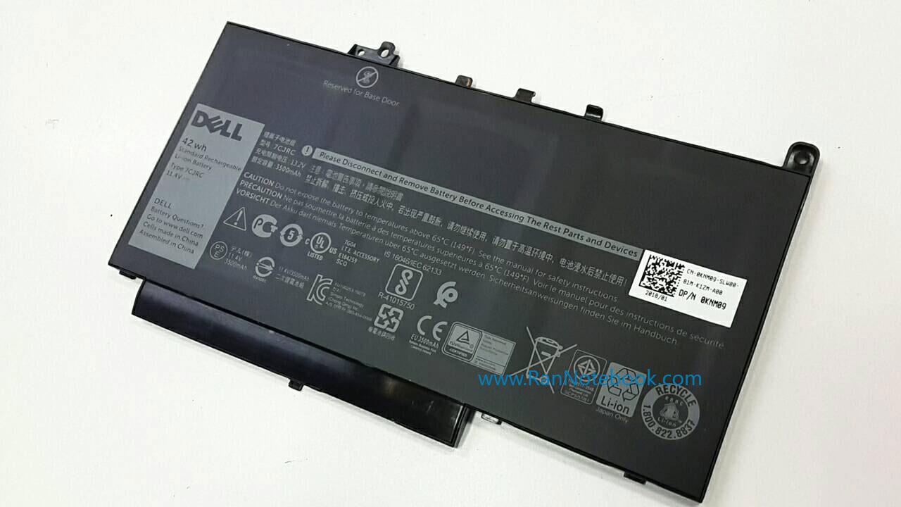 Battery Dell Latitude E7270 3 Cell 42Whr 7CJRC แบตแท้ ประกัน ศูนย์ Dell Thailand