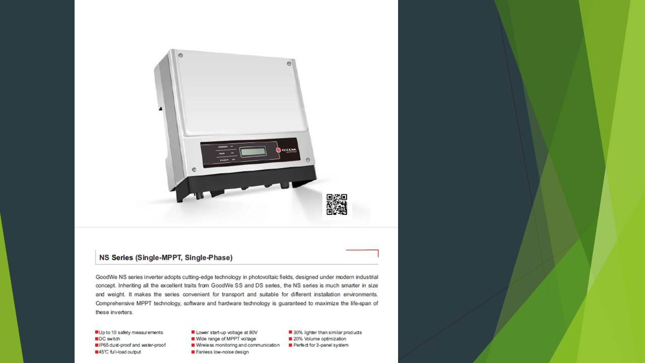 Goodwe inverter GW2500‐NS