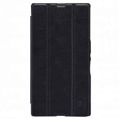 เคส Sony Xperia Z Ultra Nillkin Leather Case - แบบฝาพับสีดำ