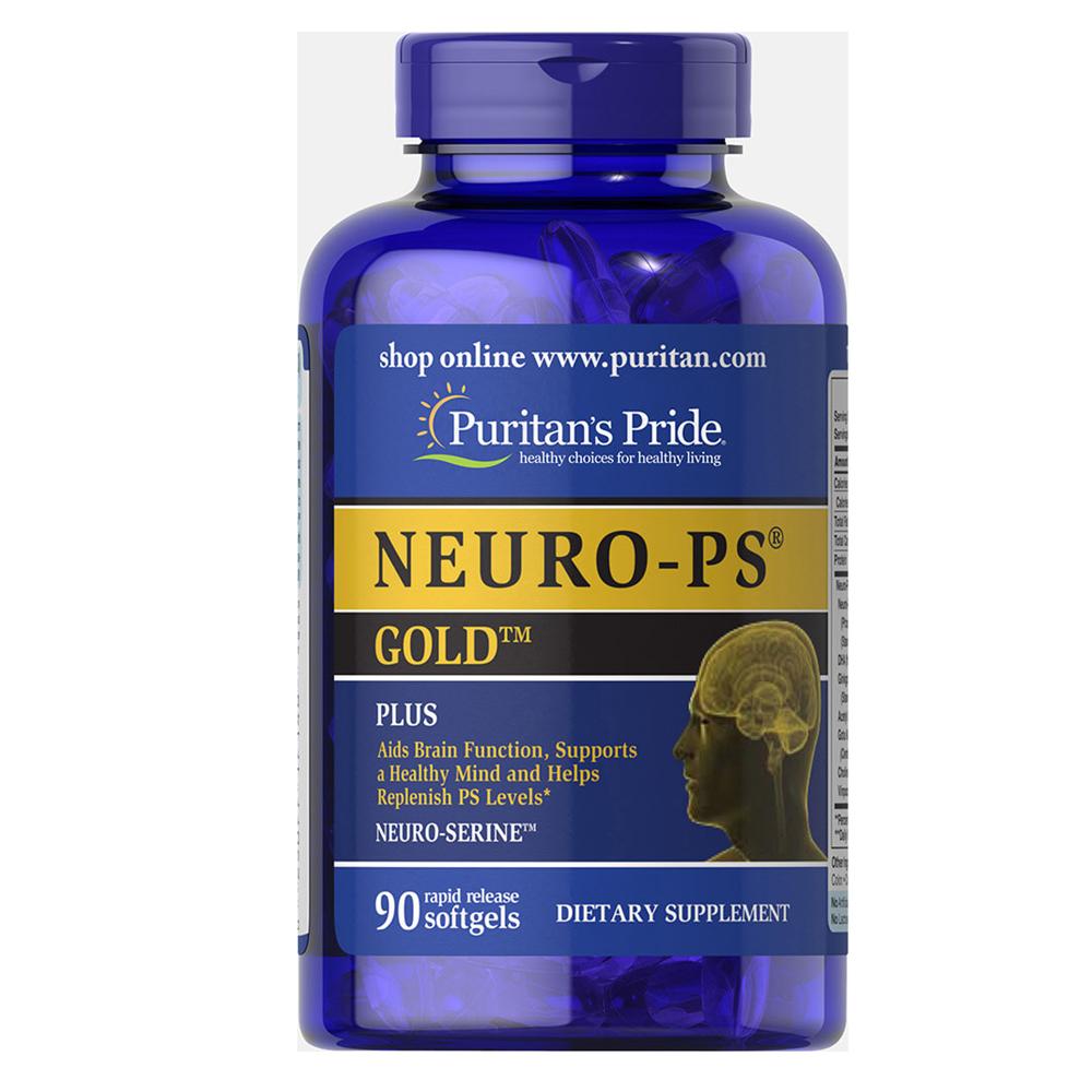 Puritan NEURO-PS GOLD 90 Softgels สุดยอดวิตามินบำรุงสมองและประสาทระดับพรีเมี่ยม รวมสารสกัดเกรดเอ 10 ชนิด