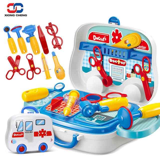 ชุดหมอกระเป๋า พร้อมอุปกรณ์ กระเป๋ารถพยาบาล Little doctor set