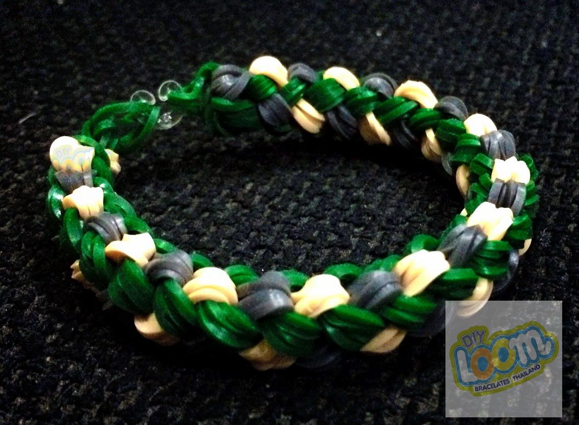 ยางถัก Silicone loom bands สีเบจ สั่งทำพิเศษ สำหรับ DIY Loom Bracelets Thailand เท่านั้น