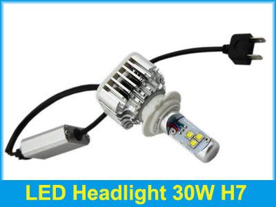 ไฟหน้า LED ขั้ว H7 Cree 3 ดวง 30W