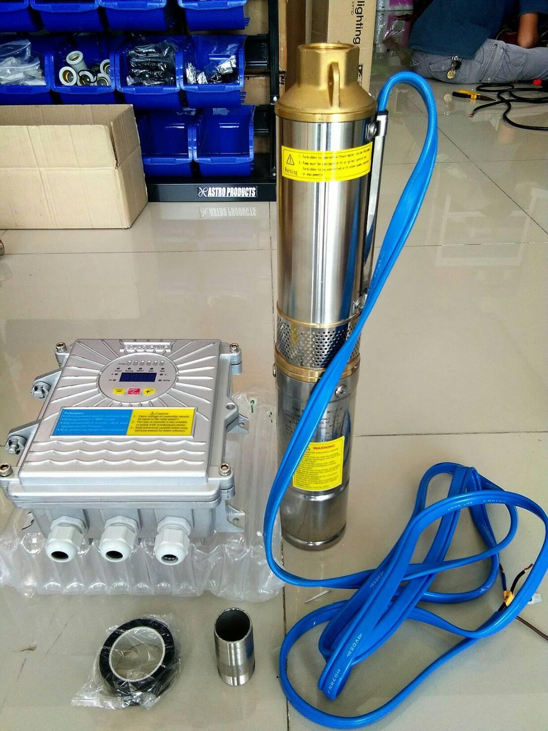 โซล่าปั๊ม (Solar Pump) ชนิด Submersible ขนาด 15A 48V 750W 0.55kW