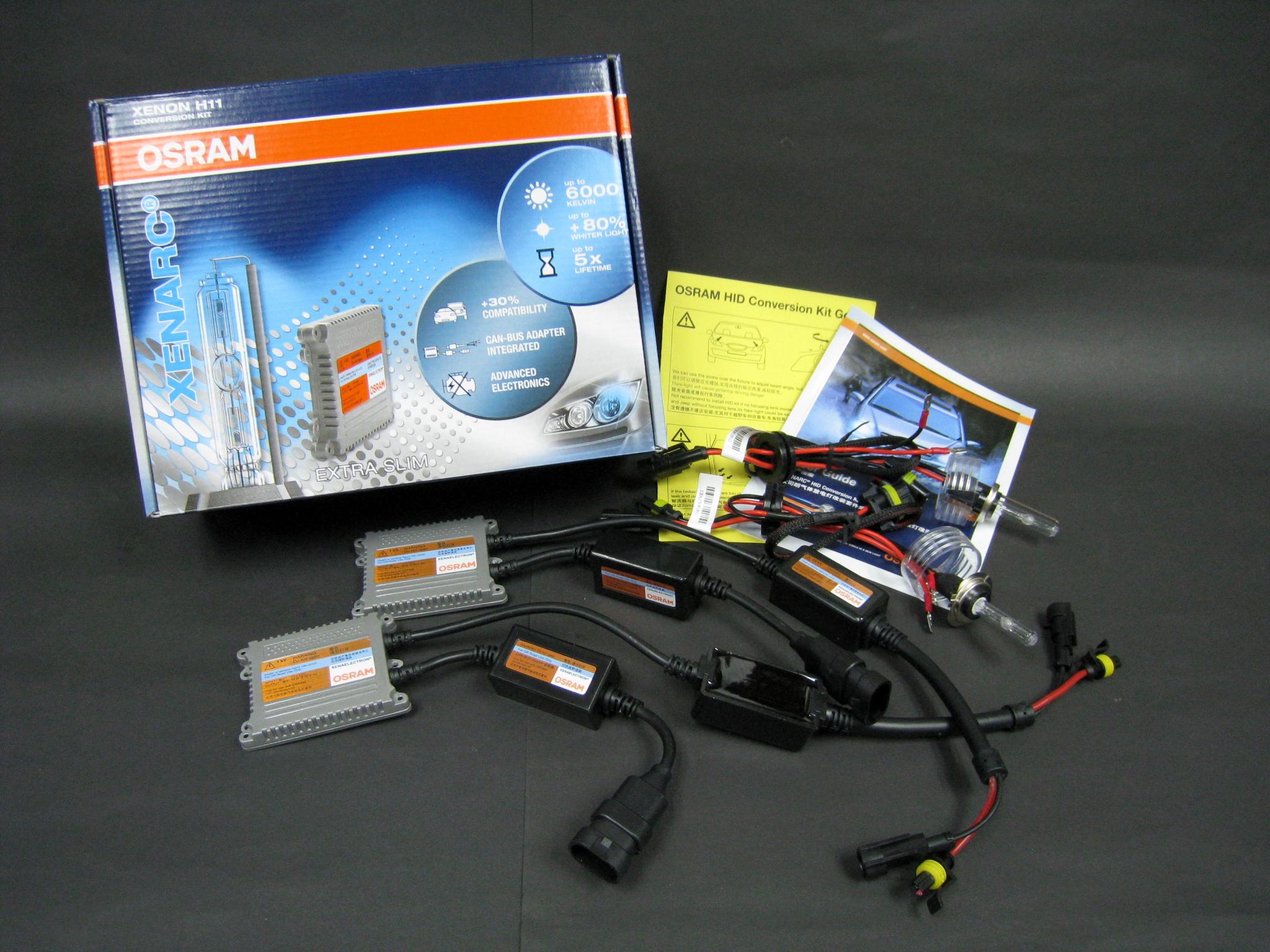 ชุดไฟ Xenon OSRAM 6000K 12V 35W CAN-BUS ขั้ว H8 ,H11,H16