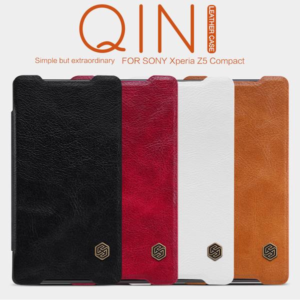 เคสฝาพับ Xperia Z5 Compact ของ Nillkin Qin Leather Case