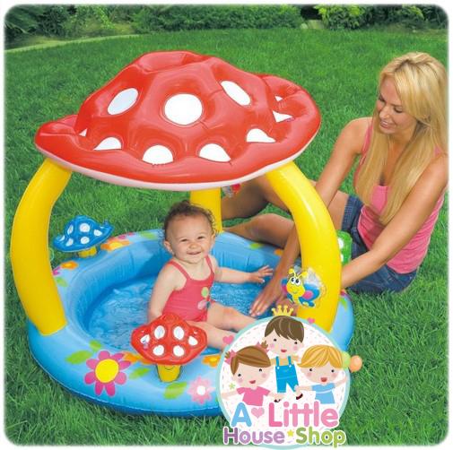 สวนน้ำเห็น หรรษา Mushroom Baby Paddling Pool 57404NP ขนาด 102cm x 89cm