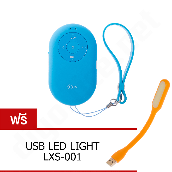 ลำโพงบลูทูธ SBOX DT-B650 Mini Selfie Bluetooth Speaker + Remote Shutter ลำโพงพกพาไร้สาย รีโมทชัตเตอร์ในตัว - Blue น้ำเงิน