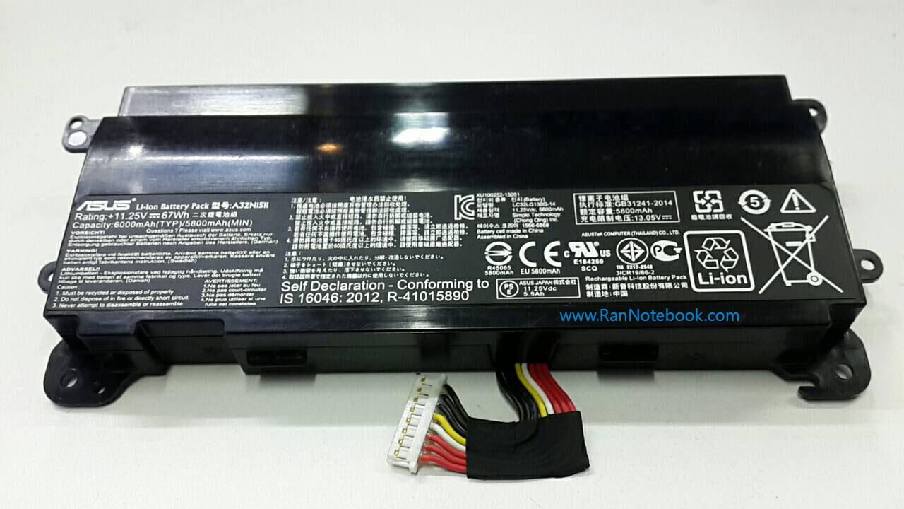 Battery ASUS G752LV A32N1511 แบตเตอรี่ Asus แท้ ประกันศูนย์ ราคา ไม่แพง