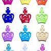 Fancy Crown Charms 12ชิ้น (ตัวห้อยรูปมงกุฎ)