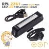 ไฟจักรยาน ไฟหน้าจักรยาน LED RAYPAL COMET ชาร์ตด้วย USB สว่าง 100 Lumens 6 mode RPL-2261 - White ขาว