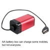 กล่องแบตเตอรี่ ไฟจักรยาน AA X 4 Waterproof Battery Storage Pack Case House Cover USB DC Port for Bicycle Bike Lamp Light