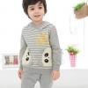 SWALLOW SPEAK ชุดเสื้อกันหนาว+กางเกง ขาวยาวแพนด้าเทาขนาด100/110/120/130/140