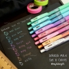 "SARASA Clip 0.5mm ""Milk Color"" Set 8 Colors"