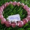 สร้อยข้อมือสตอเบอรี่ควอตซ์ Strawberry Quartz หินมงคลแห่งความสุข หินรักแท้