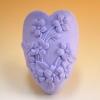 แม่พิมพ์สบู่ รูปหัวใจดอกไม้ 85g