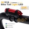 ไฟจักรยาน ไฟท้าย ไฟหน้าจักรยาน LED OOP DC-918 ชาร์ตด้วย USB สว่าง 15 Lumens 4 mode - Red สีแดง 2 อัน