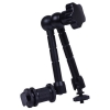 "11 inch Friction Articulating Magic Arm Bracket Hot Shoe Connector 1/4"" Screw SC-X5 OOP for DSLR Monitor Studio Light"