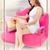 เก้าอี้โซฟาปรับนอน รุ่น FOLD-UP สีชมพู