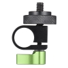 "Aluminum Alloy 1/4"" Thread Screw 15mm Single Rod Clamp Kit for DSLR Camera Camcorder Video Rail Support System"