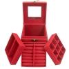 Jewelry Boxes กล่องจัดเก็บเครื่องประดับ 3 ชั้น สีแดง