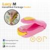 ซีลถุงแบบพกพา Lucy M mini portable handy plastic bag sealer OOP - Pink สีชมพู 2 อัน