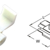 ตลับหนีบสาย 18-14 A.W.G. 0.75-2.5mm2 878101 SS 2.5 T-Lug Quick Splice Connectors KST WHITE